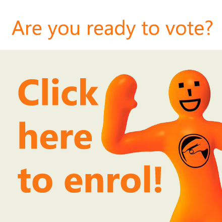 Enrol to vote